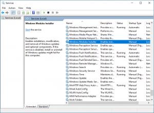 Windows Modules Installer Dienst